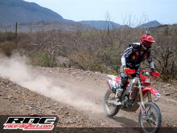 Johnny Campbell riding near Loreto