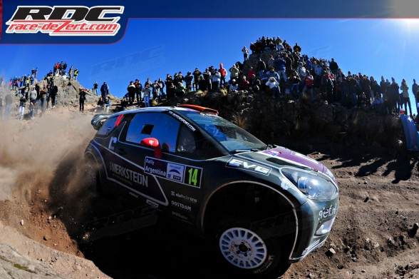 WRC Peter Van Merksteijn (NLD) and co driver Eddy Chevaillier (BEL) exit a corner on special stage 4 El Condor
