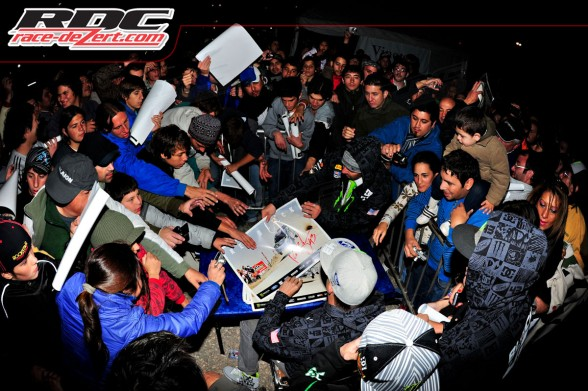 WRC driver Ken Block (USA) signs autographs for fans in the service park at the end of day 2 of Rally Argentina.