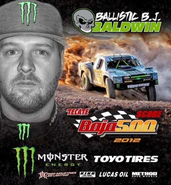 BJ Baldwin, Toyo Tires, Monster Energy, Baja 500