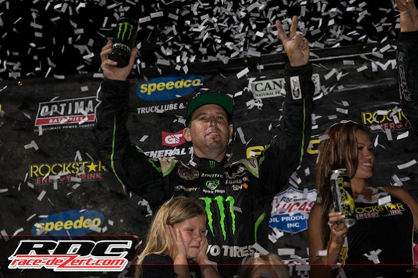 Jeremy McGrath raced his way back to the podium, with a strong(hold) 2nd place finish.