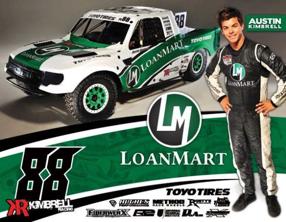 Austin Kimbrell, LoanMart, Bink Designs, Toyo Tires, FiberwerX