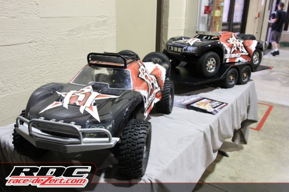 RC cars have grown in popularity in recent years.  Rigid Industries had a custom 1/5th scale setup in their booth.