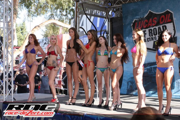 The Off Road Expo bikini contest hosted by Andrea Pathiakis of Podium Girls definitely drew a crowd.
