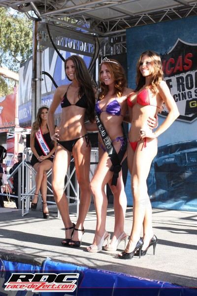 The top 3 girls in the Off Road Expo bikini contest.