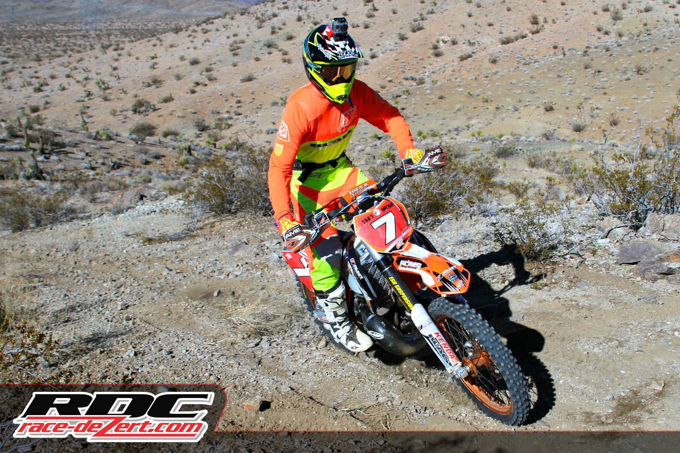 """Skyler Howes was hard to miss up at the front of the field at the end of the """"Bomb Start"""""""