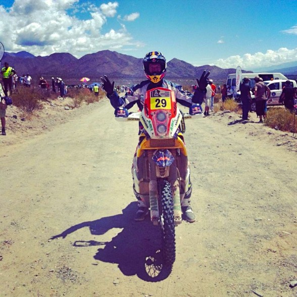 Kurt Caselli after winning stage 11