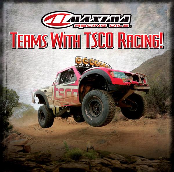 TSCO Racing, Maxima Racing Oils, Race Lubricants, Trophy Truck