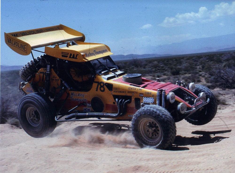 Mickey Thompson race photo courtesy of Trackside Photo