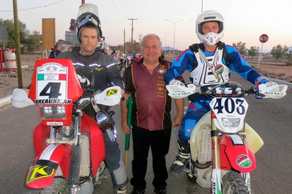 Seriously outgunned by M1K Rally winner Justin Morgan, #4 prepares for stages 4 and 5 out of Bahia de Los Angeles