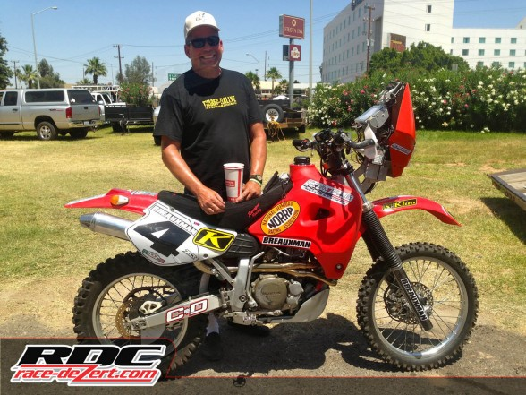 Peter Hardy's HONDA XR650 RALLY with Custom Renazco Rally Seat