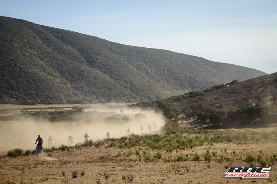 The Bash Riders follow the dust train to La Calavera hill climb on day one.