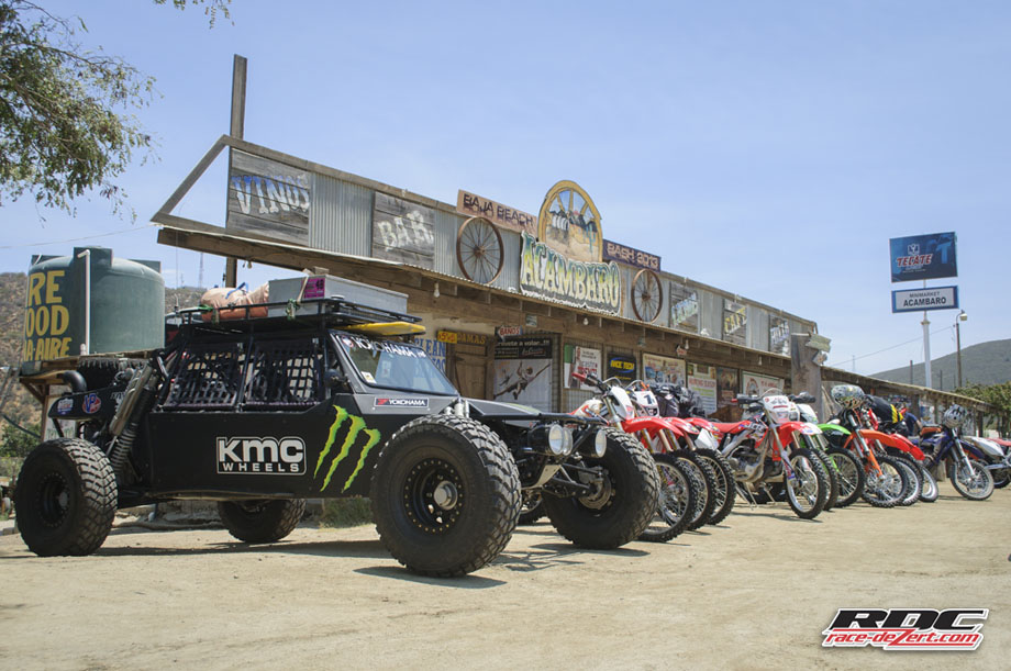 """""""The Buggy"""" and early arrivals begin to stage out of Juan Villareal's Acambaro complex at Uruapan."""