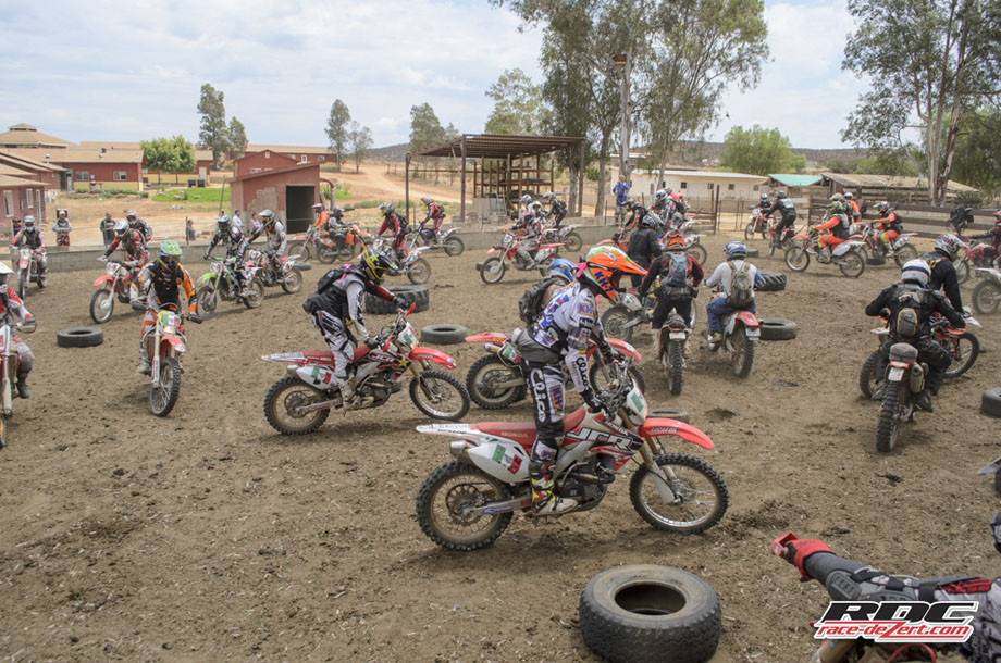 "Some 50 Bashers play a friendly game of ""Foot Down"" inside the corral at Rancho Santa Marta Orphanage. Quinn Cody went on to win the event. His first BAJA win since his B1000 title in Nov. 2011."