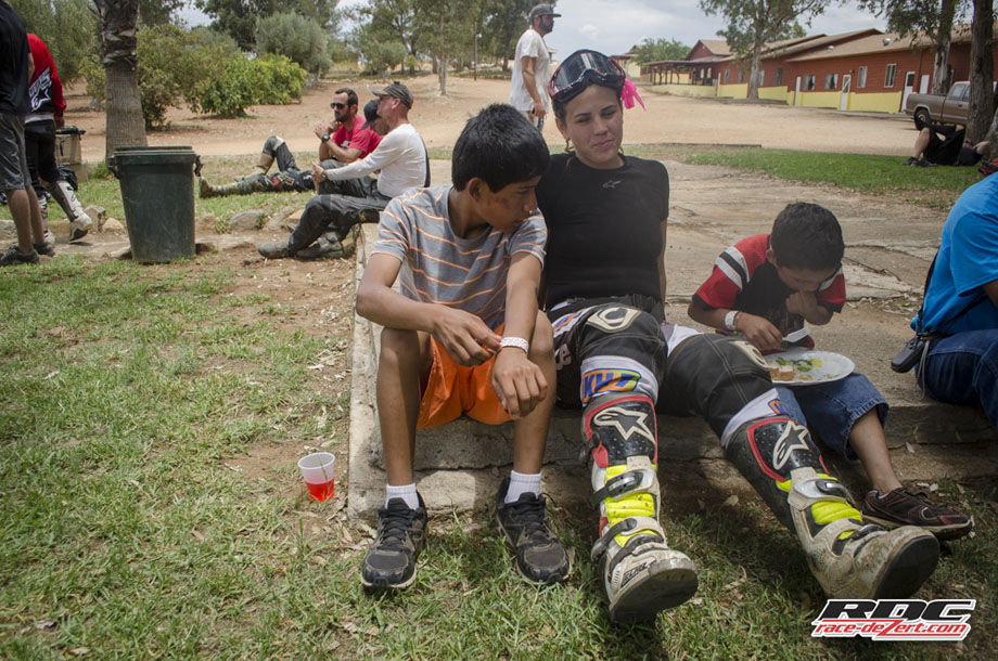 The ever-so-charming Laia Sanz relaxes with a few locals at the Rancho Santa Marta Orphanage