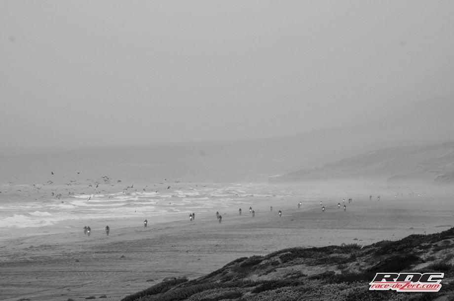 Coastal fog creates a mystic backdrop as the Bash Crew heads south at San Antonio Del Mar