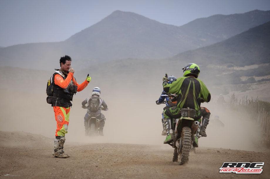 PAB checks a rider's cognitive reflexes heading north toward the Oculto Trail.