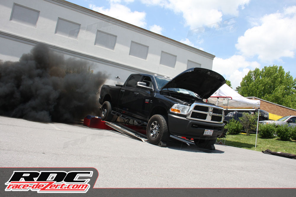 Brandon Baker's 2010 Dodge won the dyno competition by putting 750 horsepower and 1,480 lbs/ft of torque to the rollers on the Dyno Dynamics chassis dyno manned by the crew from Fast Enough Performance in Lexington, KY.