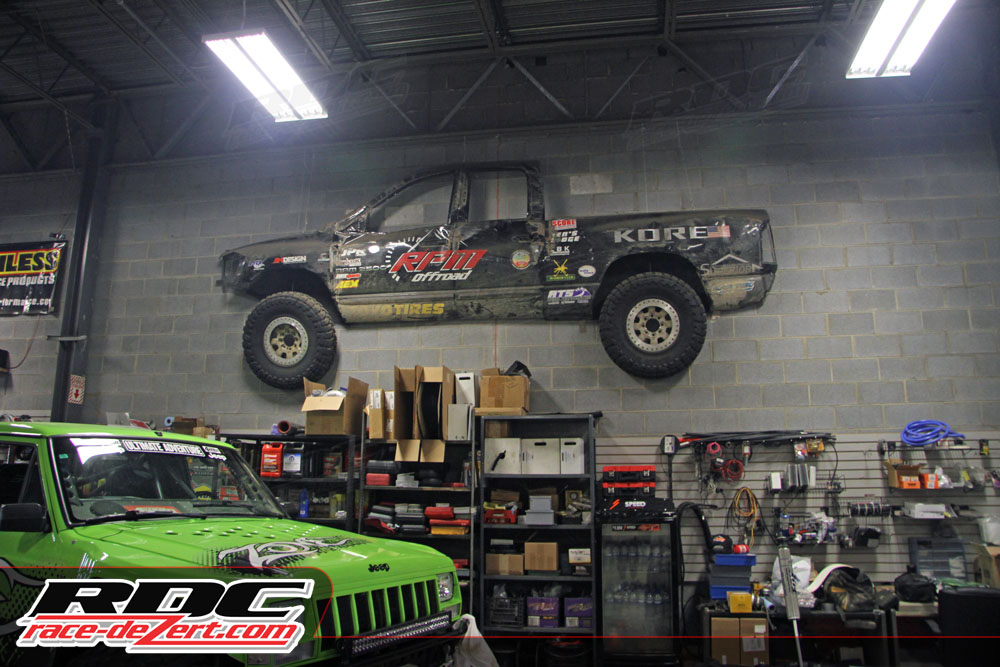 The walls in the RPM Offroad shop are constant reminders that they have a rich desert racing history despite their Bristol, TN location.