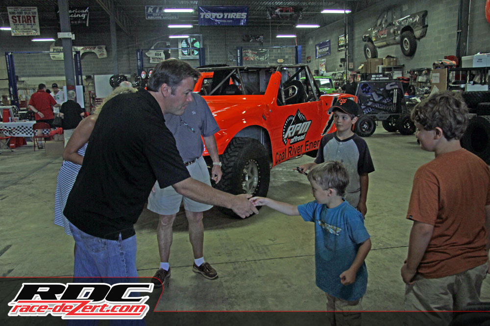 Robby Gordon always takes time to make his young fans feel special, even with his crazy-busy schedule.