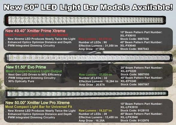 The biggest brightest light bars yet new 50 led light bar models visionx50inchlightbarprimage2 mozeypictures Images