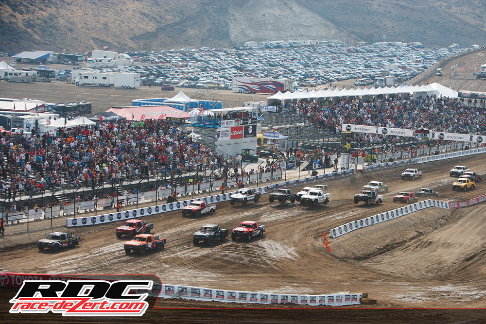 Fan fill the stand in Round 12 of the Lucas Oil Offroad Racing Series.