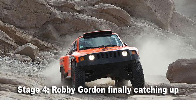 Robby Gordon at Dakars Stage4