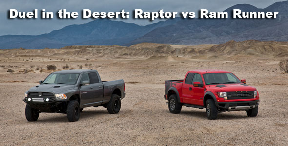 Pickuptrucks Gathered Two Decorated Off Road Vehicles The Ford F 150 Svt Raptor And Ram Runner By Mopar To Compete A Head