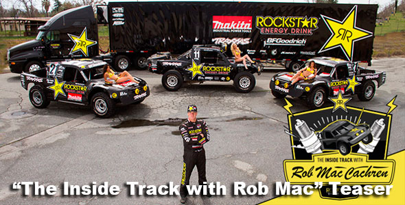 "The Inside Track with Rob Mac"" Teaser LIVE NOW – race-deZert com"