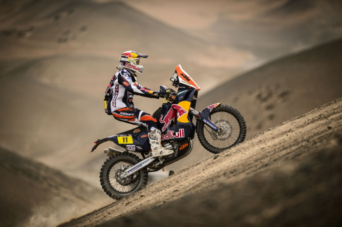 Seemingly in the shadows of Coma and Despres, Ruben Faria has been racing uphill his entire Dakar career. -Photo courtesy of REDBULL KTM