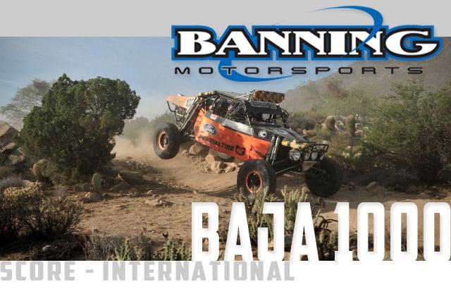 Banning Motorsports Baja 1000 Header PR