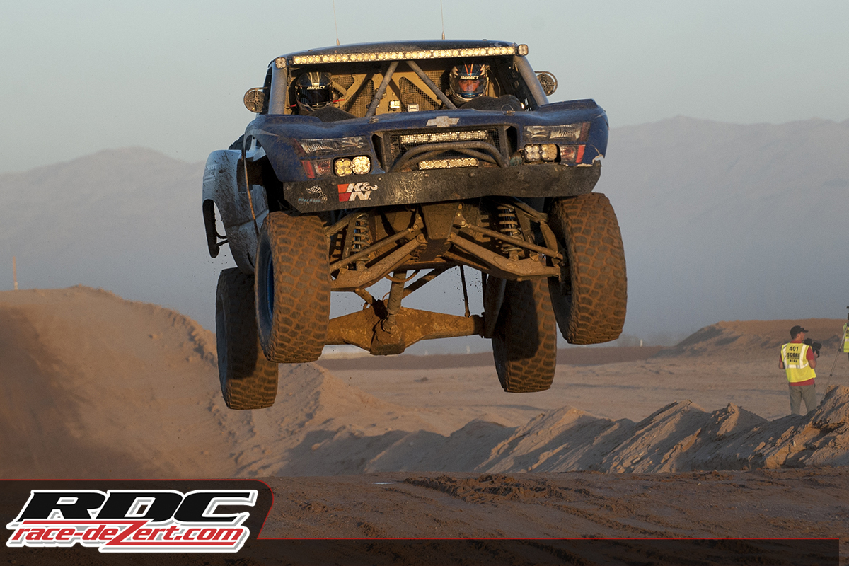 Eugenio on his way to his first overall Trophy Truck win at the SCORE IVDC race