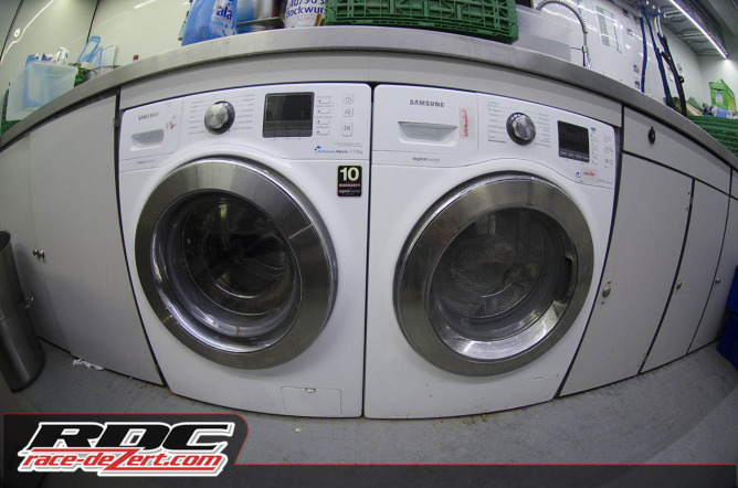 Washing machines to clean up the drivers suits every day