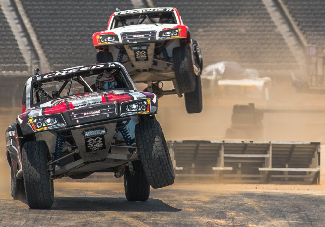 Austin, TX - June 7, 2015 - Circuit of The Americas: Sheldon Creed and Jerett Brooks competing in Rally Car Racing Final at X Games Austin 2015(Photo by Nick Guise-Smith / ESPN Images)