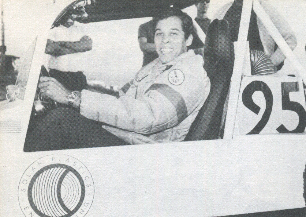 '68 MEXICAN 1000. Don Prudhouse in one of Steve McQueen's solar plastics car. Everyone had to try off-roading at least once.