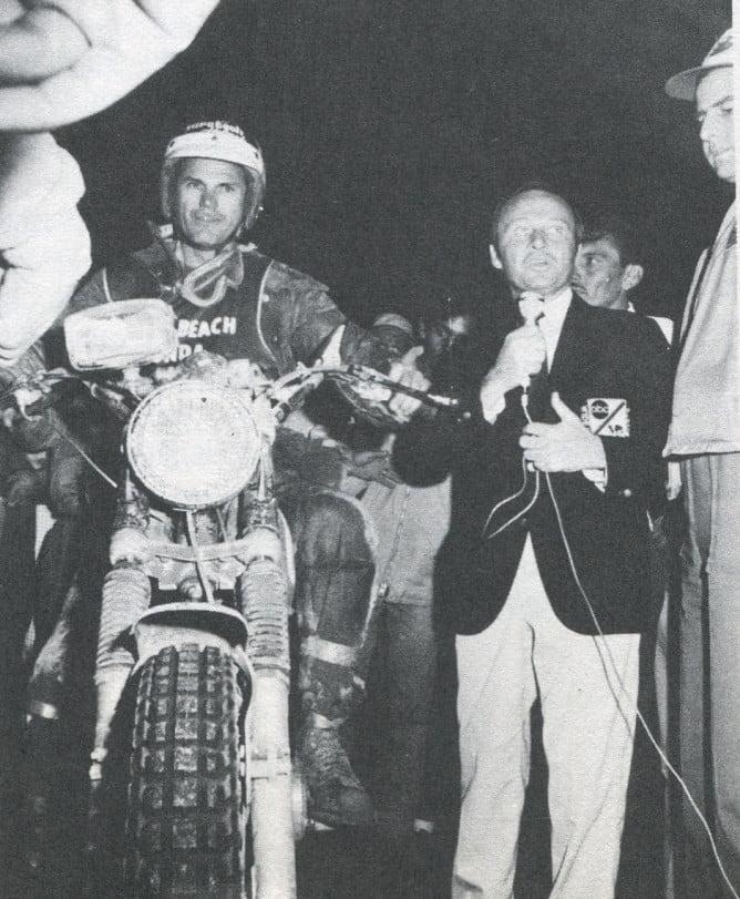 1968 MEXICAN 1000. Jim McKay interviews No. 1 Berquist/Preston Honda overall winner in '68.
