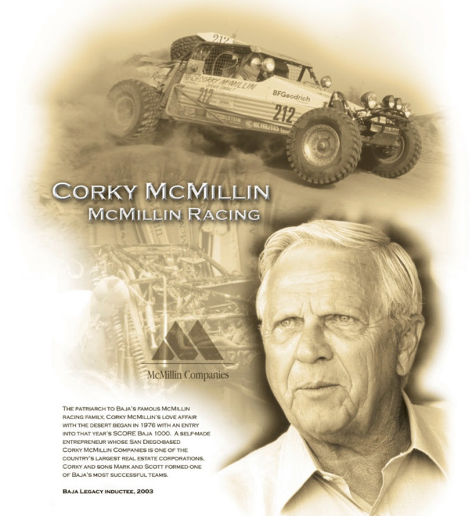 In memory Corky McMillin page PR