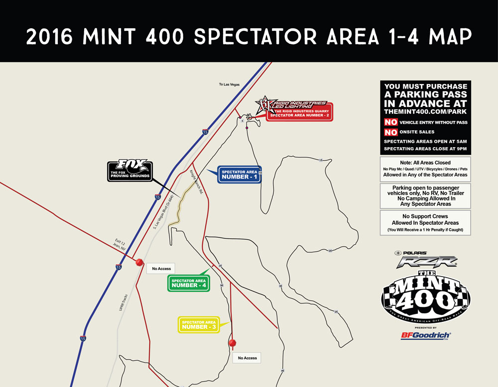 Mint 400 Parking Passes Sale NOW race deZert
