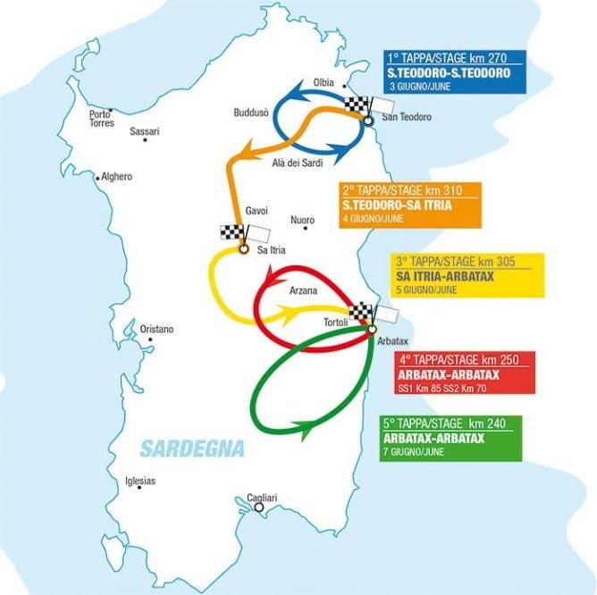Sardegna Map 2016