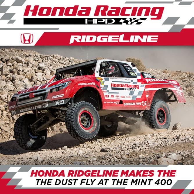 2016 Honda Racing Mint 400 PR