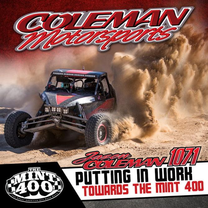Jason Coleman 2016 Mint 400 PR