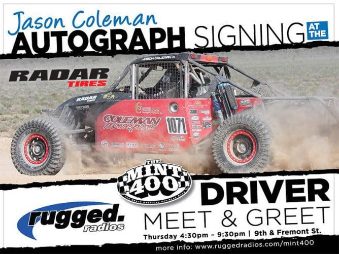 Jason Coleman 2016 Mint 400 PR1