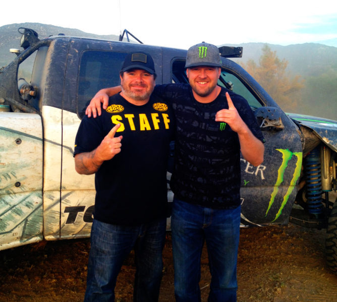 Matt Martell and BJ Baldwin Pre-running somewhere in Baja.