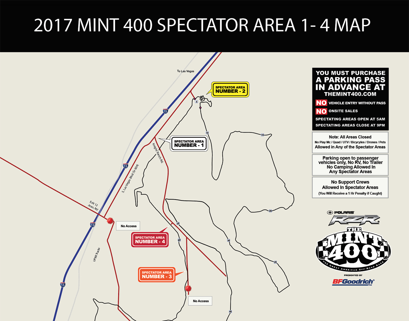 2017 Mint 400 Spectator Parking Passes in the Mail! - race ...