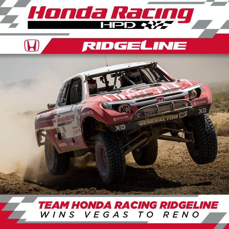 Team Honda Racing Ridgeline Wins The Longest Off Road Race