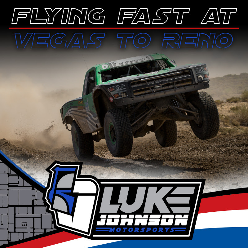 Luke Johnson Flying Fast At Vegas To Reno In New AWD Trick Truck