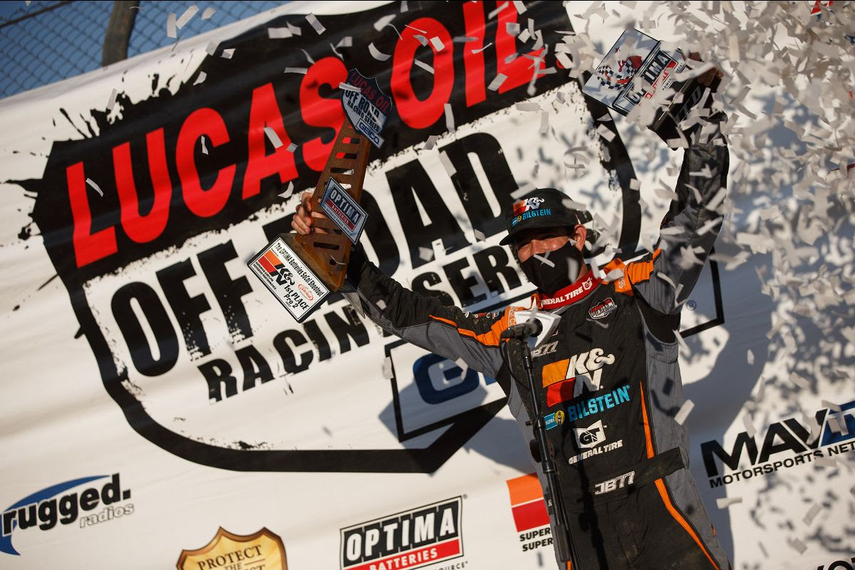 Brooks capped off a dominant start to his title defense by sweeping the weekend doubleheader on Sunday. Photo: Lucas Oil Off Road Racing Series