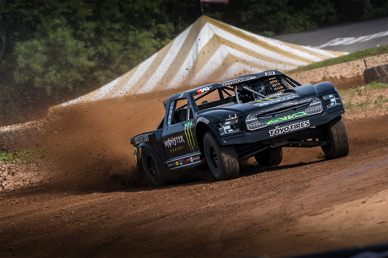 Images of Kyle Leduc and his #99 Monster Energy / Toyo Tires / WD-40 / Ford Raptor Pro 4 Truck are available at: https://media.toyotires.com/kyle-leduc-wins-third-cor-race-in-two-weeks